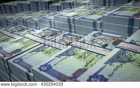 Arab Emirates Dirhams Money Banknotes Pack Illustration