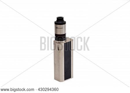 Vape Mod Or Electronic Cigarette Isolated On White Background.