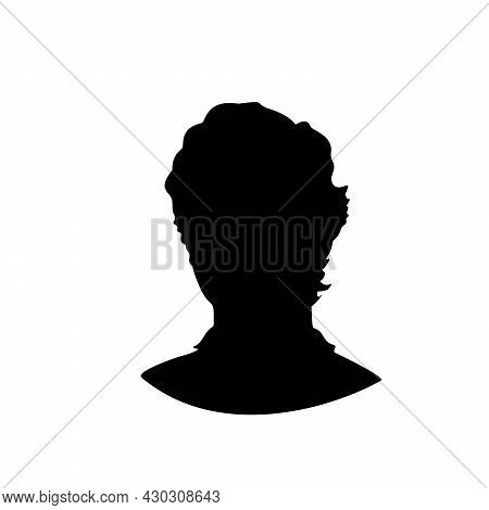 Silhouette Face Young Man Close Up. Illustration Graphics Icon