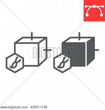 Art To Nft Line And Glyph Icon, Unique Token And Nft Blockchain, Non Fungible Token Vector Icon, Vec