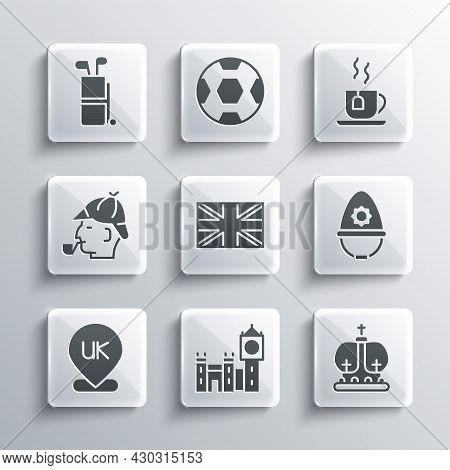 Set Big Ben Tower, British Crown, Police Helmet, Flag Of Great Britain, Location England, Sherlock H