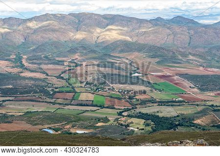 The Farm Landscape In The Matjies River Valley As Seen From The Swartberg Pass Near Oudtshoorn In Th