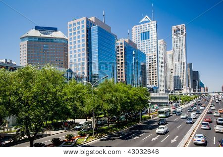 The central business district in Beijing,China