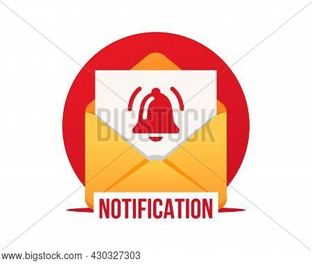 Email Notification. Notification Of A New Email. New Email Message. Vector Illustration