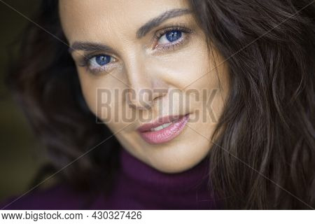 Sensual Portrait Of A 40-year-old Woman. Anti Age Concept.