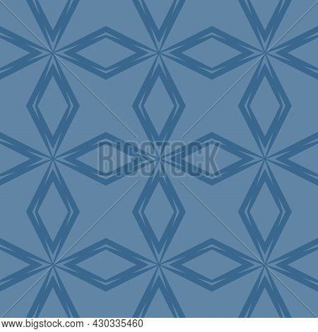 Abstract Geometric Seamless Pattern. Simple Vector Texture With Linear Shapes, Rhombuses, Diamonds,