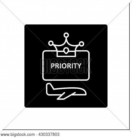 Priority Pass Glyph Icon. Space To Relax And Refresh Before Flight.exclusive Lounge Zone.airport Ter
