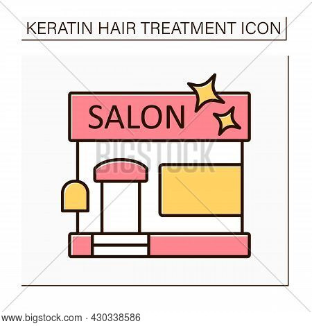 Salon Color Icon. Establishment For Hairdresser, Beautician, Nail Master And Makeup Artist.spa, Mass