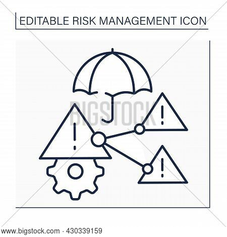 Difficult Risks Line Icon. Positive, Neutral, Or Negative Effects In Business.risk Prediction. Busin