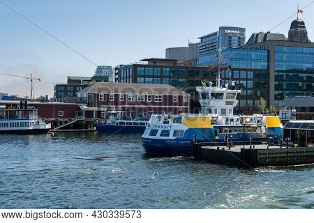 Dartmouth, Canada - 10 August 2021: Halifax Transit Ferry At The Ferry Terminal