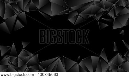 Wall Explosion Fragment, Abstract Explosion Background, Vector Illustration