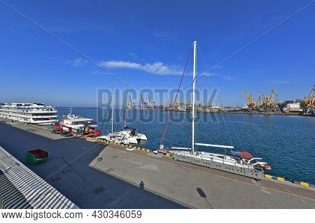 Ukraine, Odessa 05/25/2021. Odessa Seaport Is A Large Commercial Port Of International Importance, L