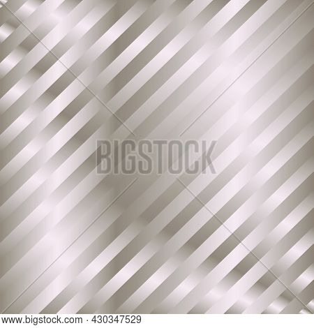 Muted Bronze Gradient Diagonal Stripes Pattern. Abstract Modern Vector Background. Shiny Metal Wallp