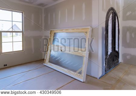 Construction Building Industry New Home Construction Interior Drywall Tape And Unfinish Details A Ne