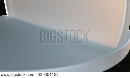 Interior Semicircular 3d Render Elements Creating An Abstract Surface. Architectural Rotation With C