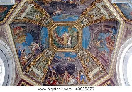 Ceiling In Vatican Museum