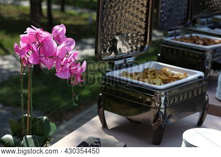 Catering, Gourmet Snack Containers At The Buffet