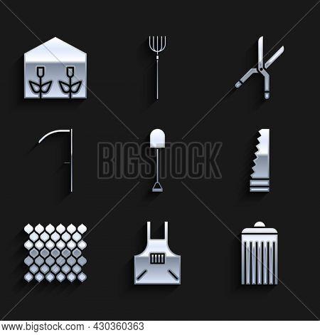 Set Shovel, Kitchen Apron, Trash Can, Garden Saw, Fence Wooden, Scythe, Gardening Handmade Scissors