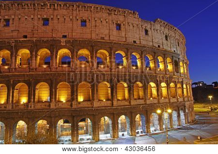 Night Scene At Colosseum