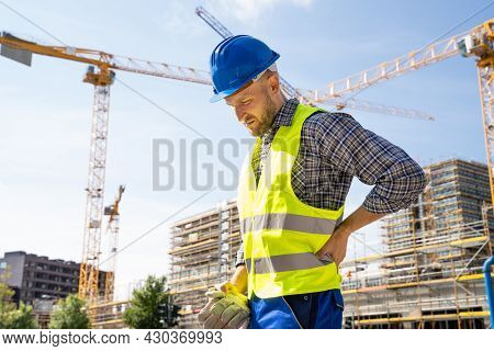 Engineer With Back Pain Injury After Accident At Construction Site