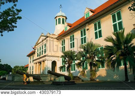 Jakarta, Indonesia - May 17, 2007: Jakarta History Museum Or Also Known As Museum Fatahillah. This M