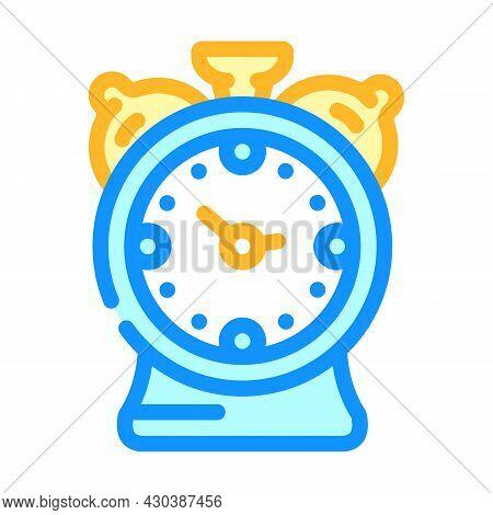 Alarm Clock Color Icon Vector. Alarm Clock Sign. Isolated Symbol Illustration