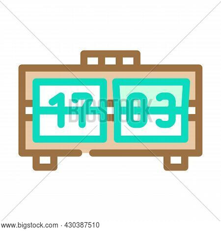 Mechanical Clock Color Icon Vector. Mechanical Clock Sign. Isolated Symbol Illustration