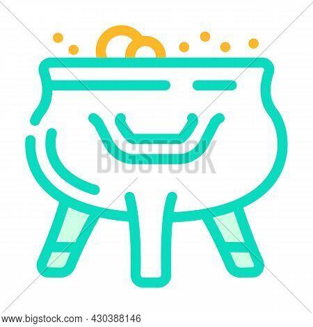 Prepare Poison Fairy Tale Color Icon Vector. Prepare Poison Fairy Tale Sign. Isolated Symbol Illustr