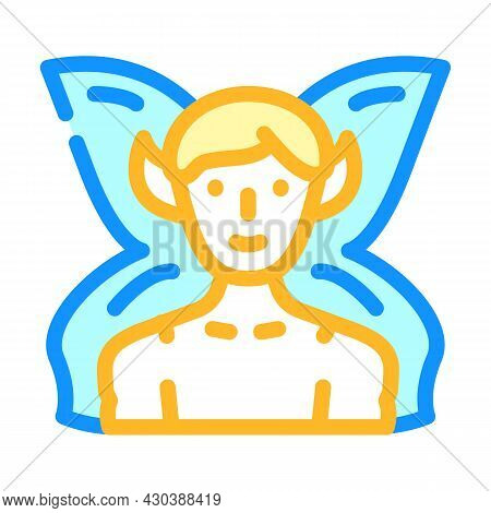 Fairy Fantasy Character Color Icon Vector. Fairy Fantasy Character Sign. Isolated Symbol Illustratio