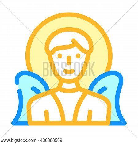 Angel Fantasy Character Color Icon Vector. Angel Fantasy Character Sign. Isolated Symbol Illustratio