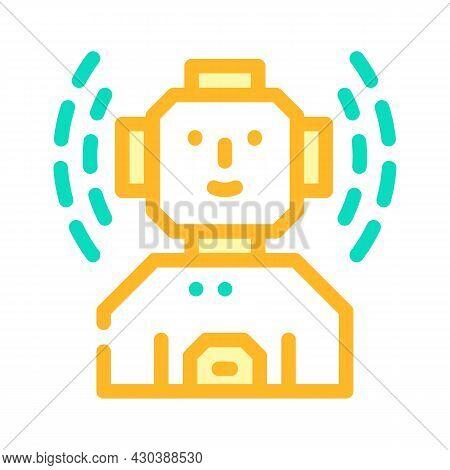 Robot Fantasy Character Color Icon Vector. Robot Fantasy Character Sign. Isolated Symbol Illustratio