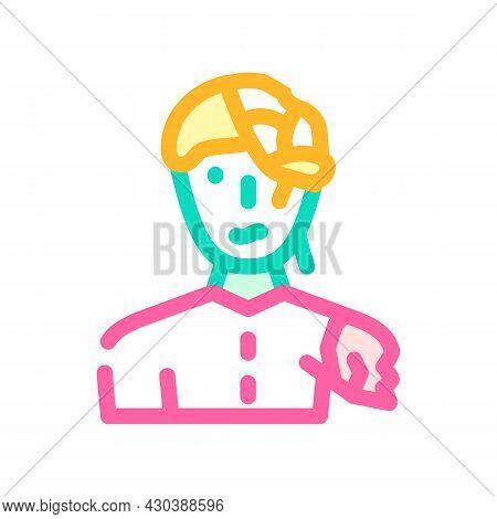 Zombie Fantasy Character Color Icon Vector. Zombie Fantasy Character Sign. Isolated Symbol Illustrat
