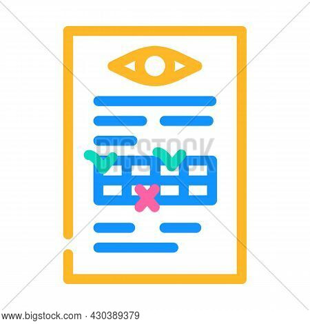 Anamnesis Ophthalmology Color Icon Vector. Anamnesis Ophthalmology Sign. Isolated Symbol Illustratio