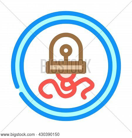 Nanorobot Electronic Device Color Icon Vector. Nanorobot Electronic Device Sign. Isolated Symbol Ill