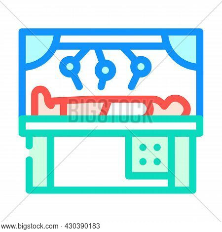 Robot Doing Surgery Operation Color Icon Vector. Robot Doing Surgery Operation Sign. Isolated Symbol
