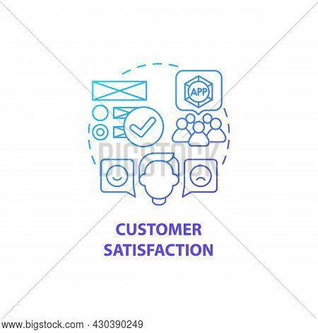 Customer Satisfaction Concept Icon. Product Usage Abstract Idea Thin Line Illustration. Increasing R