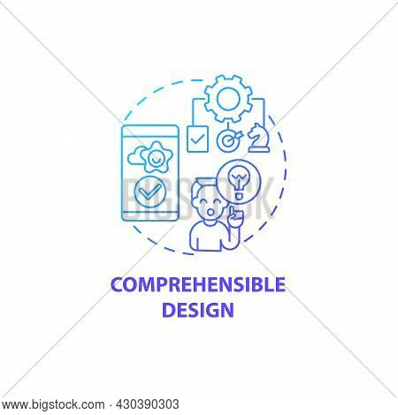 Comprehensible Design Concept Icon. Product Usage Abstract Idea Thin Line Illustration. Intuitive An