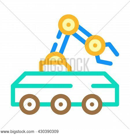 Mine Neutralization Robot Color Icon Vector. Mine Neutralization Robot Sign. Isolated Symbol Illustr