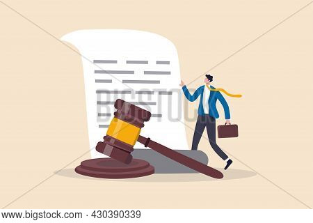 Legal Document, Attorney Or Court Professional Office, Law And Judgment Approval Paper Concept, Matu