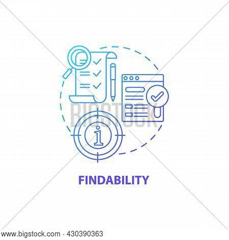 Product Findability Concept Icon. Ux Principle Abstract Idea Thin Line Illustration. Encountering Ne