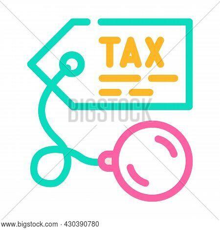 Litigation Tax Color Icon Vector. Litigation Tax Sign. Isolated Symbol Illustration