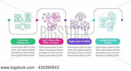 Application Usage Vector Infographic Template. High Utility Level Presentation Outline Design Elemen