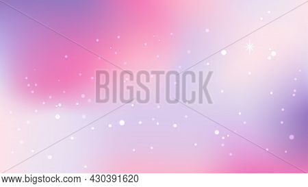 Pastel Sky Background With Shining Stars. Vanilla Sky. Sparkling Stardust. Holographic Gradient Sky.