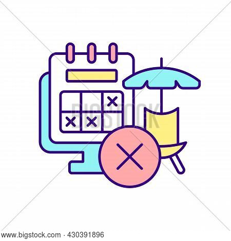 No Right To Accrue Vacation Rgb Color Icon. Self-employed And Zero Hours Workers. Type Of Employment