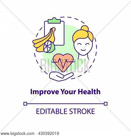 Improve Your Health Concept Icon. Healthy Products Abstract Idea Thin Line Illustration. Boost Wellb