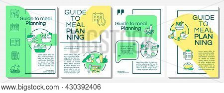 Guide To Meal Planning Brochure Template. Making Menu Tips. Flyer, Booklet, Leaflet Print, Cover Des