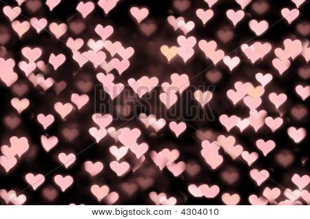 Bokeh Pink Hearts
