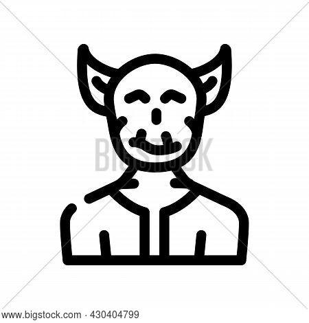Troll Fantasy Character Line Icon Vector. Troll Fantasy Character Sign. Isolated Contour Symbol Blac