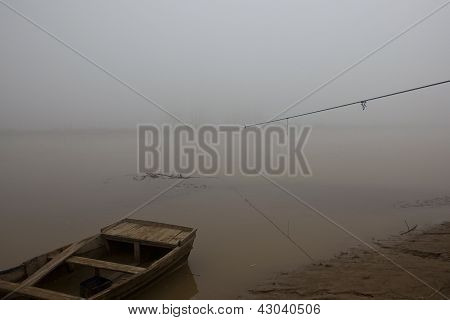 Misty Punjabi River