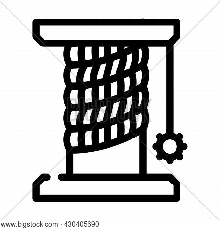 Cat Pet Toy Stand Line Icon Vector. Cat Pet Toy Stand Sign. Isolated Contour Symbol Black Illustrati